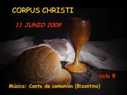 Cuerpo y Sangre de Cristo -B-