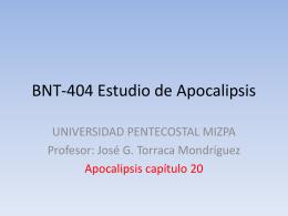 BNT-404 Estudio de Apocalipsis