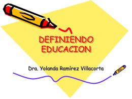 DEFINIENDO EDUCACION