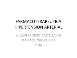 FARMACOTERAPEUTICA HIPERTENSION ARTERIAL