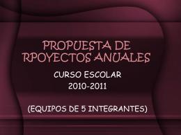 PROPUESTA DE RPOYECTOS ANUALES - fisIOn