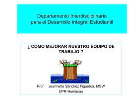 Departamento Interdisciplinario para el desarrollo