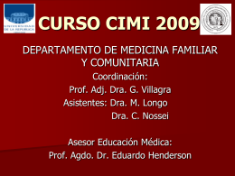 DEPARTAMENTO DE MEDICINA FAMILIAR Y COMUNITARIA