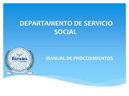 DEPARTAMENTO DE SERVICIO SOCIAL