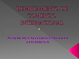 DEPARTAMENTO DE COMERCIO INTERNACIONAL