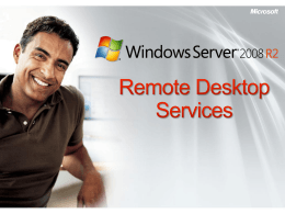 R2 Remote Desktop Services Overview