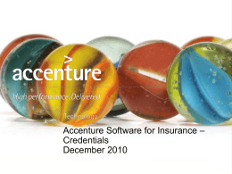Accenture Software for Insurance