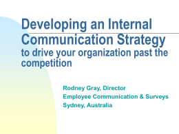 Developing an Internal Communication Strategy
