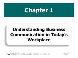 Understanding Business Communication in Today's …