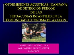 DETECCION PRECOZ DE LA HIPOACUSIA