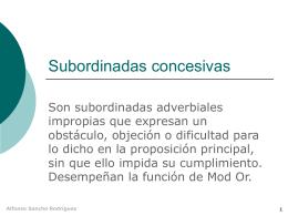Subordinadas concesivas