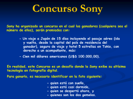Consurso Sony www.albelda.info