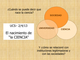 Diapositiva 1 - Unidad de Ciencia y Desarrollo: Inicio