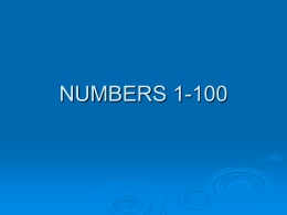 NUMBERS 1-1000