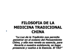 FILOSOFIA DE LA MEDICINA CHINA