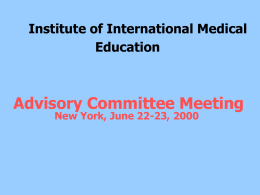 China Medical Board Advisory Committee Meetin