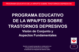 WPA/PTD EDUCATIONAL PROGRAM ON DEPRESSIVE …
