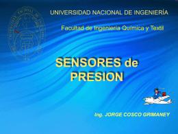 PRESION - Ing. Jorge Cosco Grimaney | Temas de Clases