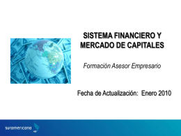 SISTEMA FINANCIERO Y MERCADO DE CAPITALES