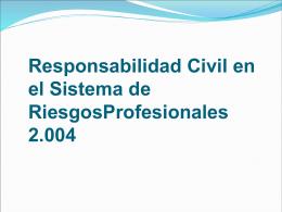 Responsabilidad Civil en el Sistema General de Riesgos