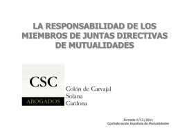 RESPONSABILIDAD DE LOS ADMINISTRADORES