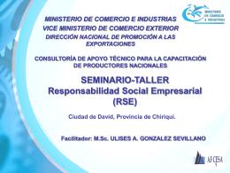 capacitacion gerencial - Ministerio de Comercio e Industrias