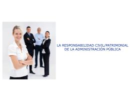 RESPONSABILIDAD PATRIMONIAL DE LA …