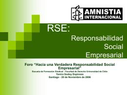 RSE: Responsabilidad Social Empresarial
