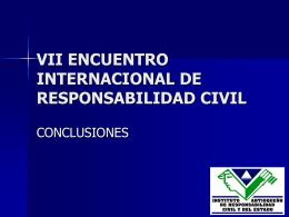 VII ENCUENTRO INTERNACIONAL DE RESPONSABILIDAD …