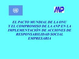 EL PACTO MUNDIAL DE LA ONU Y EL COMPROMISO DE …
