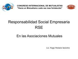 Responsabilidad Social Empresaria RSE