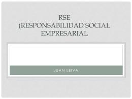 RSE (Responsabilidad Social Empresarial