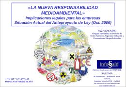 La nueva Responsabilidad Medioambiental