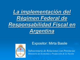 Regimen Federal de Responsabilidad Fiscal - home