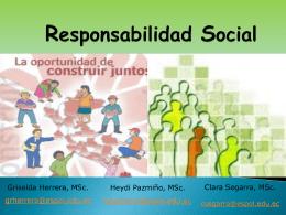 concepto Responsabilidad Social y al rol que nos