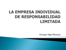 LA EMPRESA INDIVIDUAL DE RESPONSABILIDAD LIMITADA