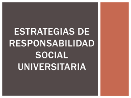 Nociones de responsabilidad social universitaria