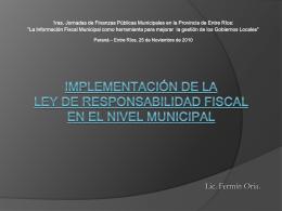 La Ley de Responsabilidad Fiscal como herramienta para