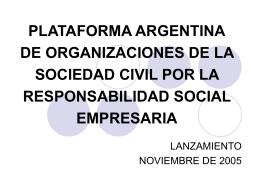 PLATAFORMA DE ORGANIZACIONES DE LA SOCIEDAD …