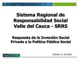 Sistema Regional de Responsabilidad Social Valle del …