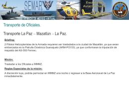 Transporte de Oficiales a Mazatlan
