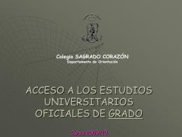 ACCESO A LOS ESTUDIOS UNIVERSITARIOS OFICIALES DE …