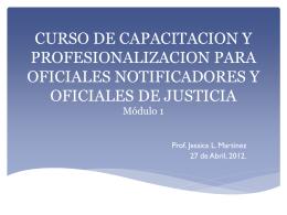 CURSO DE CAPACITACION Y PROFESIONALIZACION …