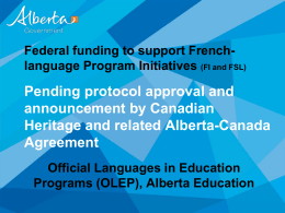 Government of Alberta PowerPoint Presentations