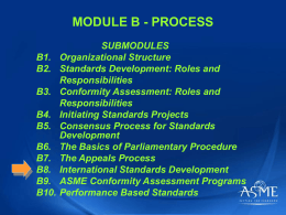 MODULE B - PROCESS - C&S Tools