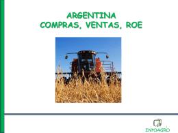 ARGENTINA COMPRAS, VENTAS, ROE