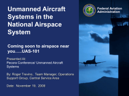 Unmanned Aircraft Systems in the National Airspace System