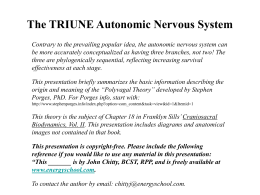 The TRIUNE Autonomic Nervous System
