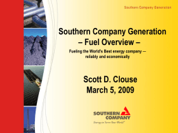 Overview of Southern Company