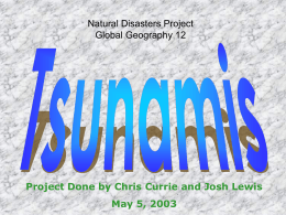 Natural Disasters Project Global Geography 12